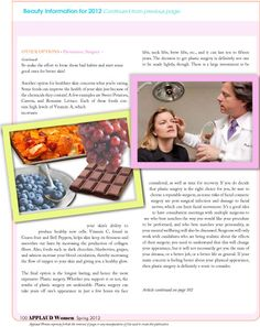 """Article by Lisa Byrd from our Beauty Feature section entitled """"Beauty; Tips, Trends and Information for 2012; talking about Heathly Skincare. Read FREE now at http://www.applaudwomen.com/ApplaudWomenSpring2012mag.html#/98/"""