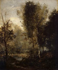 Pool in the Woods, Jean-Baptiste Camille Corot