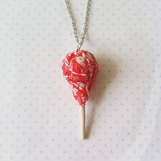#Tootsie-#Pop #necklace polymer clay by #FlowerChildCharms on Etsy