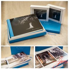 Love this album 150 images finished in blue from a wedding photographed at Lichfield Cathedral and the Befrey