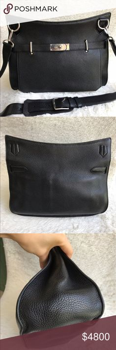 Authentic Hermes Jypsiere 34 Black Palladium Stamp Q in condition around 8.5/10. Clean interior & exterior. With no wear at 4 corners. Light scratches on hardware. With strap & dust bag. Hermes store selling price $9750, now letting go at half price 🔥🔥 Hermes Bags Crossbody Bags