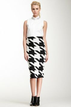 Barbie Houndstooth Knit Skirt on HauteLook