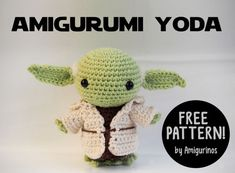 Free amigurumi pattern star wars yoda the best baby yoda patterns for makers who crochet! dolls booties hats ornaments amigurumi and Crochet Amigurumi Free Patterns, Crochet Dolls, Knitting Patterns Free, Free Crochet, Crochet Baby, Ravelry Crochet, Crochet Beanie, Crochet Edgings, Knit Hats