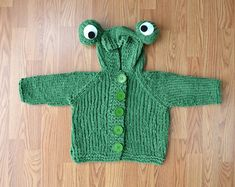 The Frog Hoodie in Bella Chenille is sized from newborn to 6 years. Knitting For Kids, Baby Knitting Patterns, Free Knitting, Knit Baby Sweaters, Baby Knits, Universal Yarn, Hoodie Pattern, Free Baby Stuff, 6 Years