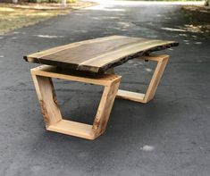 SOLD - Live Edge Coffee Table, Black Walnut and Maple Coffee Table, Floating Slab Coffee Table, Modern Live Edge Furniture, Woodworking Projects Diy, Woodworking Furniture, Diy Wood Projects, Woodworking Plans, Diy Furniture, Furniture Design, Furniture Stores, Custom Wood Furniture, Walnut Furniture