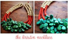 Southwestern Style Necklace - Turquoise, Coral and Bone....