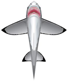 "WindnSun SeaLife Great White Shark Nylon Kite-60 Inches Tall. This is the 60"" Shark SeaLife Deluxe Nylon Kite from Brainstorm Products. Features:Handle and line included Ripstop fabric Skytails and quikclip Tech Specs:Height: 60"" (1524mm) Wind rated: 7-18 mph (11.3-29kph) Line weight: 25 lbs. (11.3kg) Line length: 125 ft. (38.1m)Includes: One 60"" Shark SeaLife Deluxe Nylon Kite Requires: Assembly (instructions provided)."