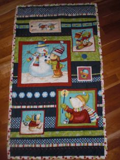 Christmas panel handquilted