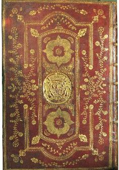 Red morocco binding for the Duke of Queensbury, 1681. Murray, Thomas, Sir. The laws and acts of parliament made by … kings and queens of Scotland. Edinburgh: printed by David Lindsay, 1681. Shelfmark: Bdg.l.3 Ref. 00002661