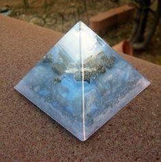 Moon Goddess Ethereal Orgone Energy Pyramid Medium by TwoChez
