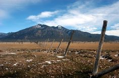 Ranch and mountains near Taos.