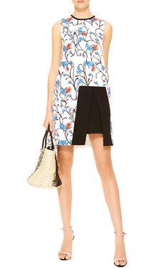 Frankie Printed Stretch-Crepe Dress by Tanya Taylor - Moda Operandi