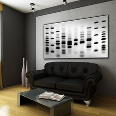 Self Portrait - Wall Art | DNA Imprints--Just as beautiful as I always imagined a gel would look on the wall. Would not want my own DNA up though...A little too personal.
