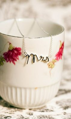 Here Comes the Bride Necklace... Someone should get me this for a wedding present.  ;-)