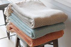 blankets herringbone pattern... like the colors