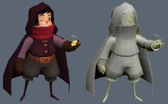 Very exaggerated limbs and features. Fun. Simple mesh.