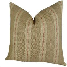 Plutus Woven Tweed Berry Handmade Pillow, Double Sided, Red