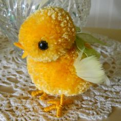 PatternsAlaCarte: Pom Pom Easter Chicks - PatternsAlaCarte: Pom Pom Easter Chicks Best Picture For 5 minute crafts For Your Taste You are l - Bird Crafts, Animal Crafts, Easter Crafts, Fun Crafts, Crafts For Kids, Unicorn Crafts, Preschool Crafts, Resin Crafts, Spring Crafts