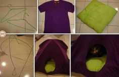 Could your pampered feline use one of these? Learn how to make this #DIY cat tent