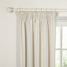 Buy John Lewis Canterbury Stripe Lined Pencil Pleat Curtains, Vertical Duck Egg Online at johnlewis.com