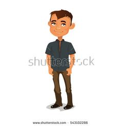Handsome guy standing on the street holding hands in pocket