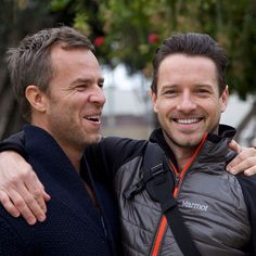 JR Bourne & Ian Bohen. Oh my gosh they're such cuties! Wish they had scenes on Teen Wolf; I bet it would be hilarious haha!