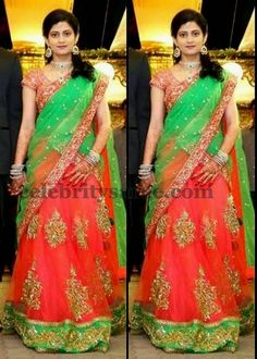 Exclusive Collection of Indian Celebrity Sarees and Designer Blouses Half Saree Lehenga, Lehnga Dress, Sarees, Anarkali, Half Saree Designs, Lehenga Designs, Blouse Models, Saree Models, Saree Blouse Patterns