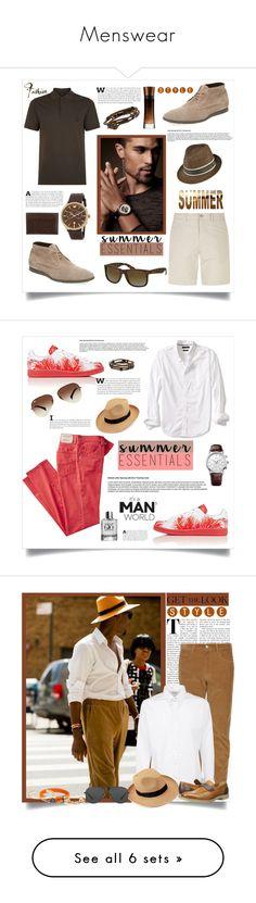 """Menswear"" by southindianmakeup1990 ❤ liked on Polyvore featuring Giorgio Armani, Burberry, Paul Smith, Kaminski XY, Ray-Ban, Emporio Armani, Gucci, men's fashion, menswear and Banana Republic"