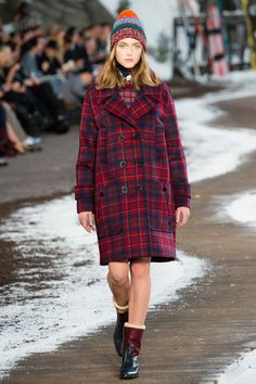 Tommy Hilfiger: Classic Plaid long coat is done by Tommy. This long coat will be the one to keep you warm in the cooler months to come. Tommy has taken the long coat and add double breasted buttons.