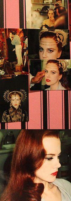 Nicole in Satine Makeup/hair tests Nicole Kidman Moulin Rouge, Satine Moulin Rouge, Le Moulin, Rouge Makeup, Hair Test, Cult, Beauty Queens, Makeup Inspiration, Redheads
