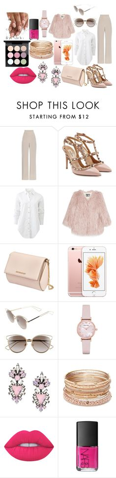 """Pink"" by mirela-r13 on Polyvore featuring MaxMara, Valentino, rag & bone, Pam & Gela, Givenchy, Christian Dior, Emporio Armani, Erickson Beamon, Red Camel and Lime Crime"