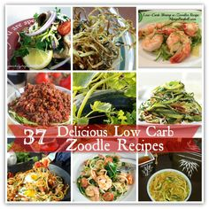 Here's 37  of the most delicious Low-Carb Zoodle Recipes you are going to find! From soup to salads, entrees and more!   Enjoy them all and feel free to share with your friends!