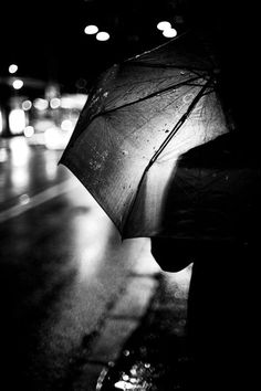 car lights, dark night, oh rain...that's right