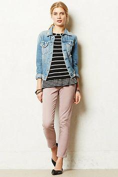 AG Stevie Ankle Sateen Jeans #anthropologie, dark grey