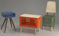 Milk crate furniture. I so love these for a kids room