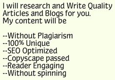 research and write quality Articles for You by abdullahzaka55