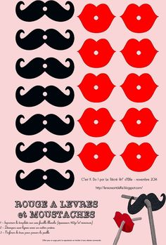 kit+moustache+++rouge+à+lèvres. Moustache Party, Mexican Party, Ideas Para Fiestas, Pajama Party, Photo Booth Props, Diy Party, Holidays And Events, Party Time, Diy And Crafts