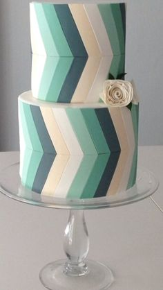 Chevron cake from Crummbcake in Singapore