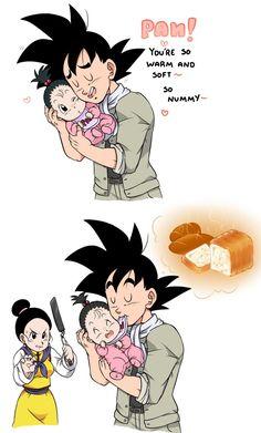 """Goku """"bonds"""" with pan. #SonGokuKakarots"""