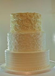 Buttercream Wedding Cake by saskia nollen, via Flickr