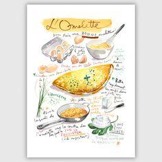 Receta de tortilla francesa impresión impresión por lucileskitchen