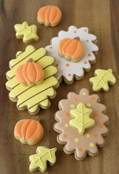 Double-Decker Fall Decorated Cookies