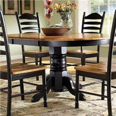Madison Park Oval Single Pedestal Table With Butterfly Leaf By John Thomas