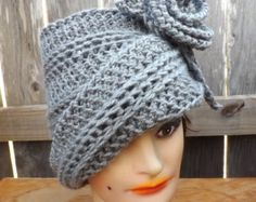 Crochet Hat Womens Hat Trendy Cloche Hat by strawberrycouture