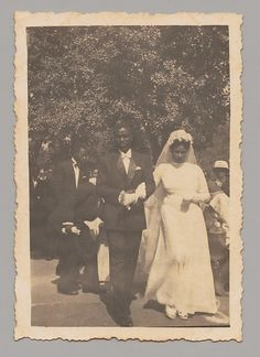 Bride and Groom, Outdoors, 1930s-40s. The Metropolitan Museum of Art, New York.  Visual Resource Archive, Department of the Arts of Africa, Oceania, and the Americas (VRA.2014.8.027.5). #wedding #bride