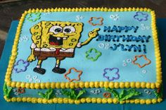 seaweed nutrition facts, understanding more about seaweeds and dietary health benefits. where we can discover them. Sesame Street Birthday Cakes, 4th Birthday Cakes, 2nd Birthday Parties, Boy Birthday, Cute Birthday Ideas, Spongebob Birthday Party, Cupcakes For Boys, Baseball Birthday, Puppy Party