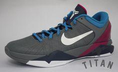 Nike Zoom Kobe VII Cool Grey/Thunder Blue-Fireberry