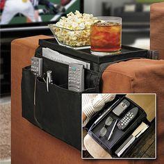 PHFU  Large 6 Pocket Sofa Couch Arm Rest Remote Caddy Organiser