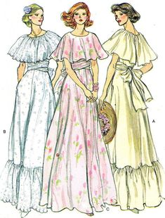 1970s Dress Pattern Vogue 9731 Capelet Dress by paneenjerez, $18.00 :  Dresses we made for  Ingrid's wedding -1978