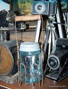 Antique Atlas Strong Shoulder Mason Jar in Holder Lot # 73 Edit item   Reserve item  $45.00 DISCOUNTS